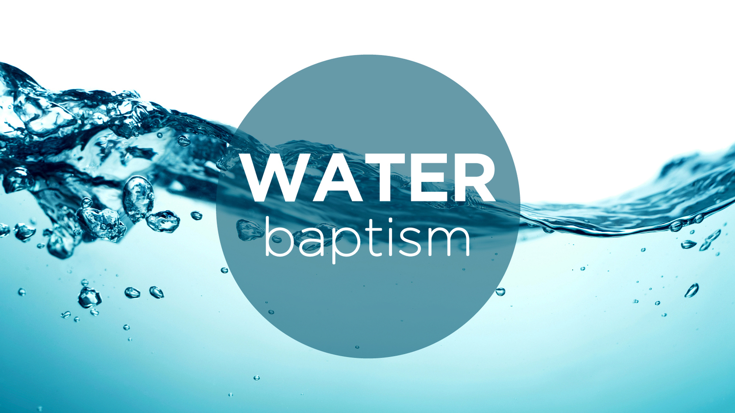 Water Baptism – Welcome to Shadow Rock Church