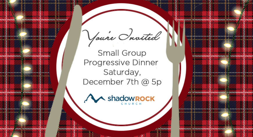Small Group Progressive Dinner